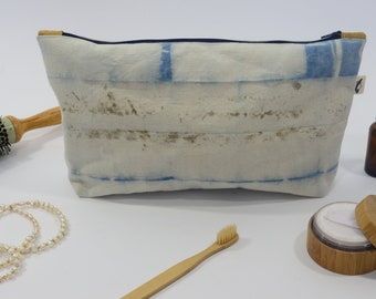 Green cotton travel pouch GREAT