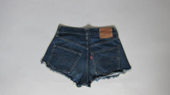Vintage LEVI'S 501 REDLINES Cut Off Shorts Usa Mad