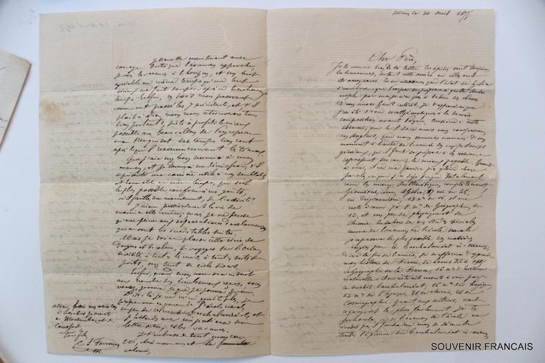 XIX-XXss Document personnel Set 3 articles Old French Papers Collection Manuscript Vintage papers \u00c9ph\u00e9m\u00e8ra