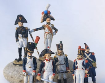 Figurine of french soldier- Collection Franklin Mint- Napoleonic Wars 1804-1815- Miniature Art History Figurine Doll Сollection