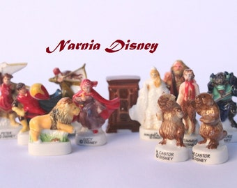 Narnia Disney-Bean Fève- Minifigurines- 12 figurines- Hand painted - Porcelain/ ceramic figurines - Collection - Fabophilie