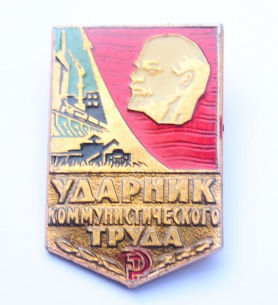 Soviet Badge- Badge of Merit of Work- Accessoires