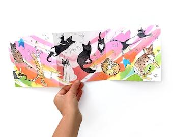 Cat lover card, 3D Birthday cat card, Card for cat owner, Funny cat card, Card for cat lover, cat birthday card, cute card, Cat Pun Card