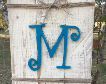 Initial personalized pallet wood sign