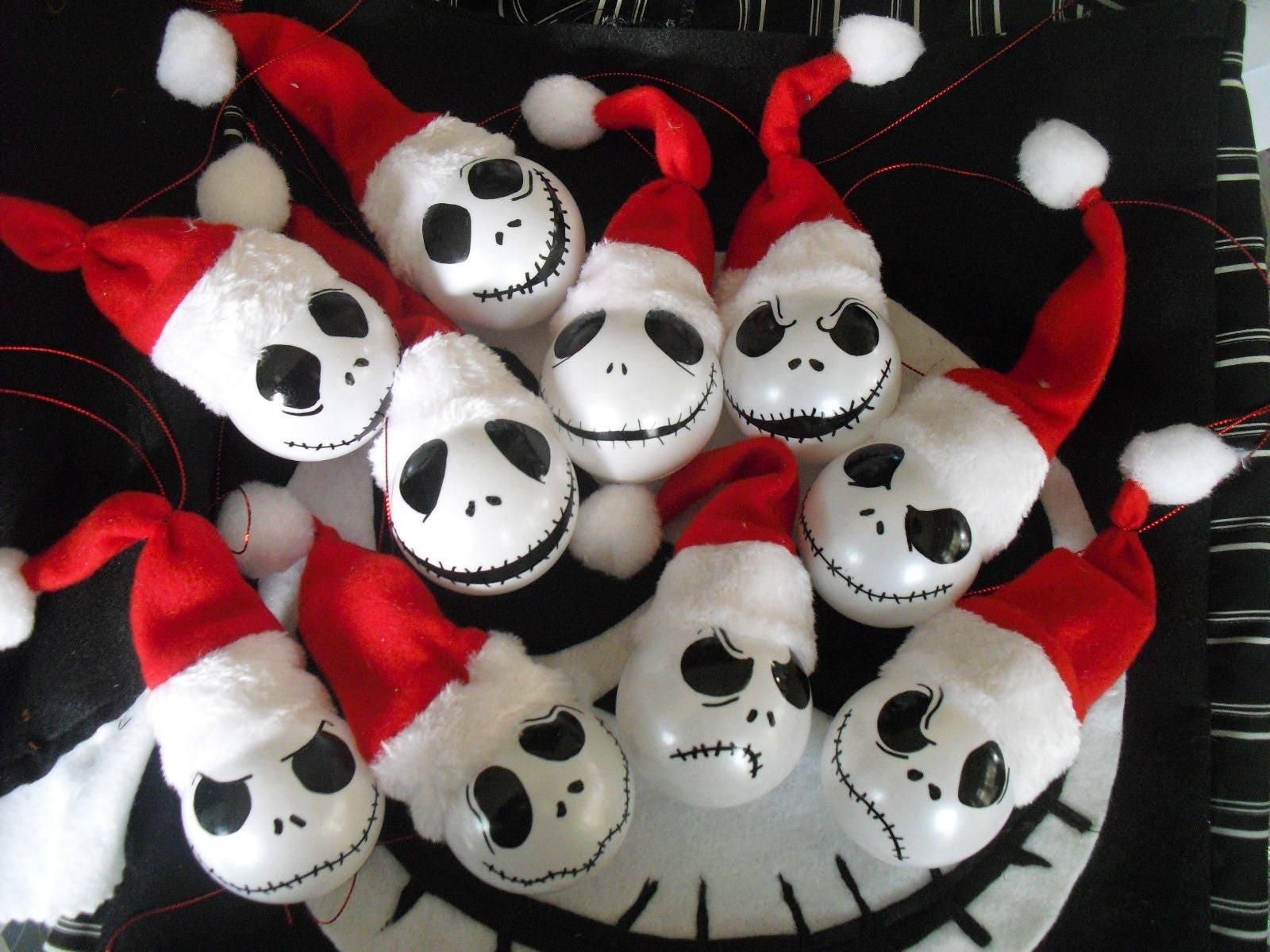 Santa Jack Christbaumkugeln Nightmare Before Christmas | Etsy