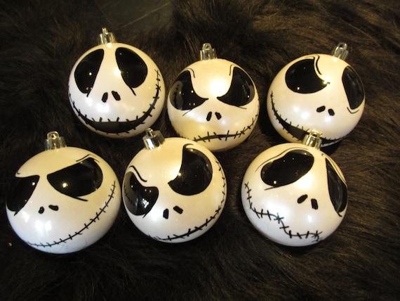 Jack Skellington white or iris baubles ornaments NIghtmare Before Christmas