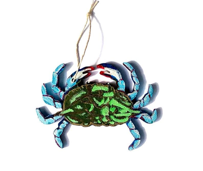 Blue Claw Crab Ornament Fishing Decor Ocean Life Keepsake image 0