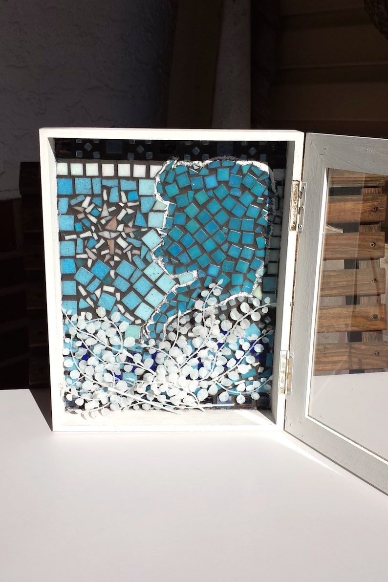 Mosaic Snow Queen Fairytale Artwork. Wall Art Ready to Hang image 0