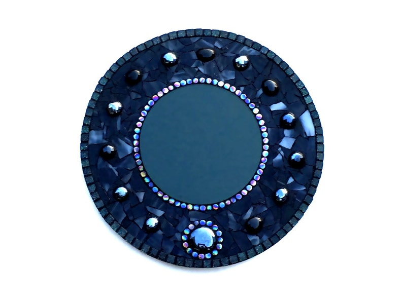 Scrying Mirror Mosaic Divination Wall Hanging Occult Home image 0