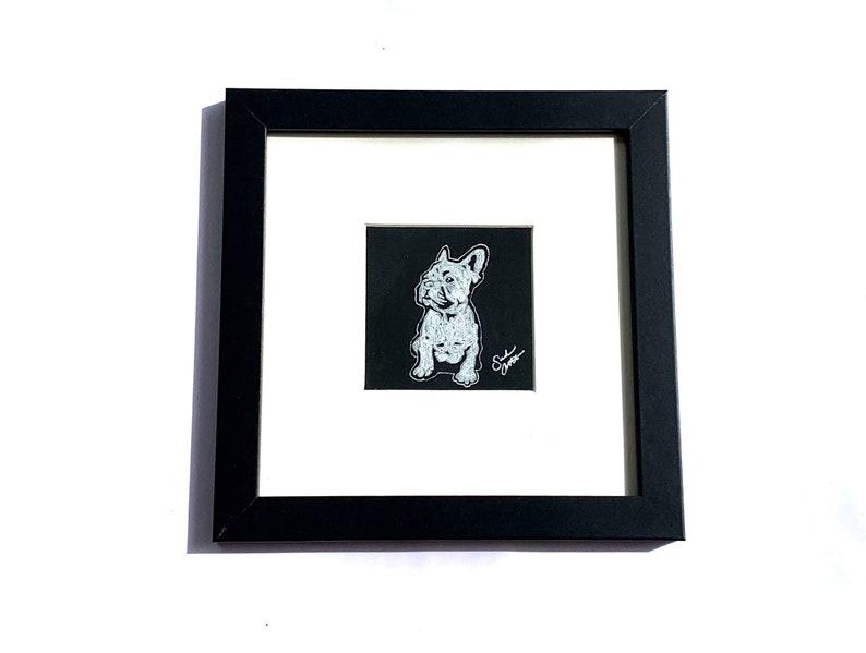 Frenchie Painting Framed Dog Artwork French Bulldog Art image 0