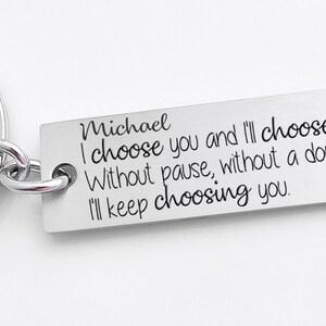High quality keychain,military key chain deployment key chain keychain for wife or husband wedding anniversary gift