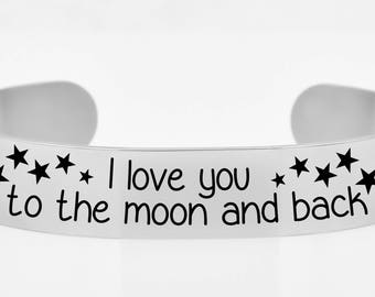 I love you to the moon and back bracelet, jewelry, bracelet