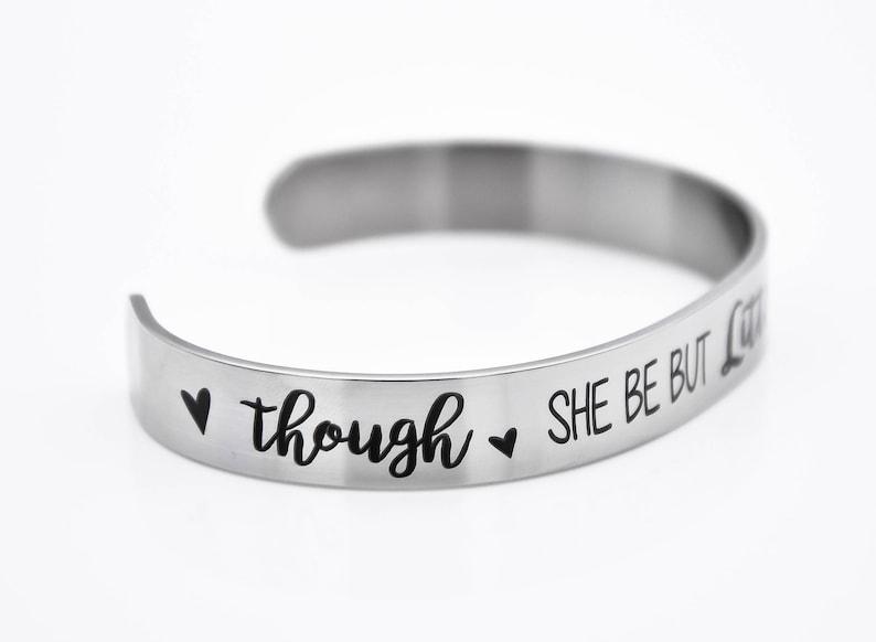 High quality bracelet jewelry special message inside bracelet Though she be but little she is fierce bracelet