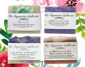 Savons au parfum floral, Savons artisanaux faits main 100% naturel, Floral scent soaps, Cold process All Natural Handmade Soap