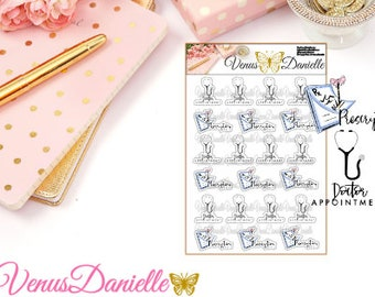 Doctor Appointment Planner Stickers, Prescription Stickers, Reminder Stickers, Medical Stickers