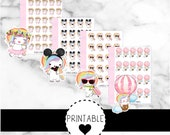 picture relating to Printable Stickers Sheets named Printable Unicorn Family vacation stickers, getaway, getaway planner, holiday vacation planner, unicorn stickers, micro sticker sheets, printable stickers