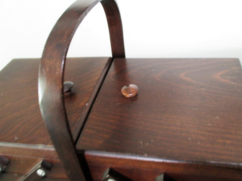 Vintage Cantilever Tongue and Groove Sewing Box