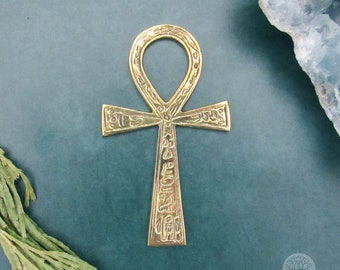 Brass Ankh Altar Tile (4 Inches)