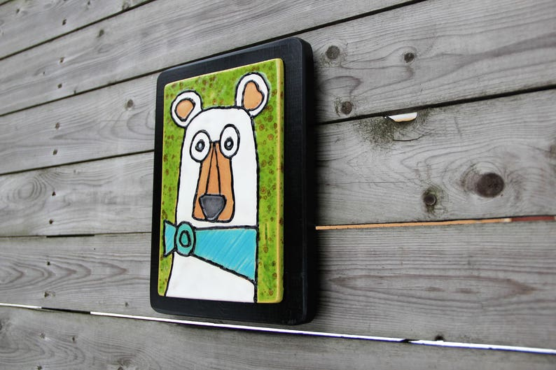 bear tile bear bear art painted bear polar bear ceramic tile