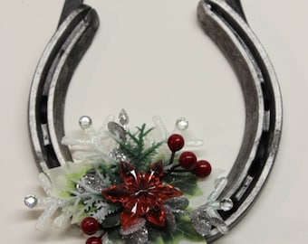 horseshoe wreath christmas wreath for your door lucky horseshoe - Horseshoe Christmas Wreath