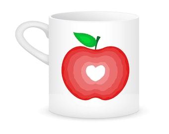 Apple heart mug