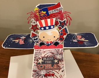 Patriotic Card in a Box