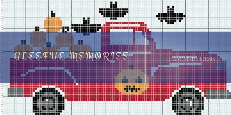 INSTANT DOWNLOAD, Halloween Truck C2C Crochet Graph, Halloween Truck,  Halloween, Truck, Tree Truck, C2C, Holiday Truck, Holiday Truck series