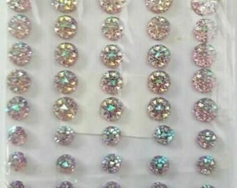 50 Self Adhesive Blue Crystal Diamante Rhinestone Moon Rock Gems CraftbuddyUS CB70BL
