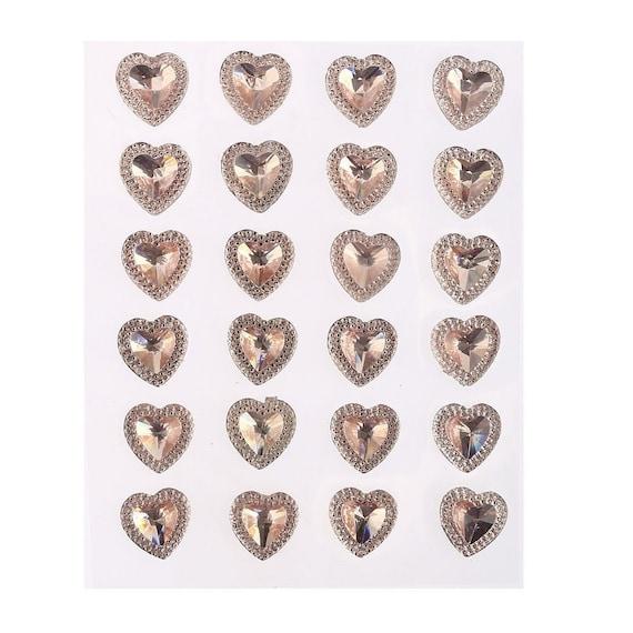 CraftbuddyUS 15 Pink Diamante Rhinestone Butterflies Gems Stick On Wedding Craft