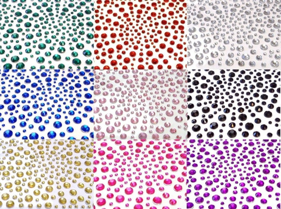 CraftbuddyUS 325 Purple// Lilac Self Adhesive Diamante Rhinestone Gems Crafts