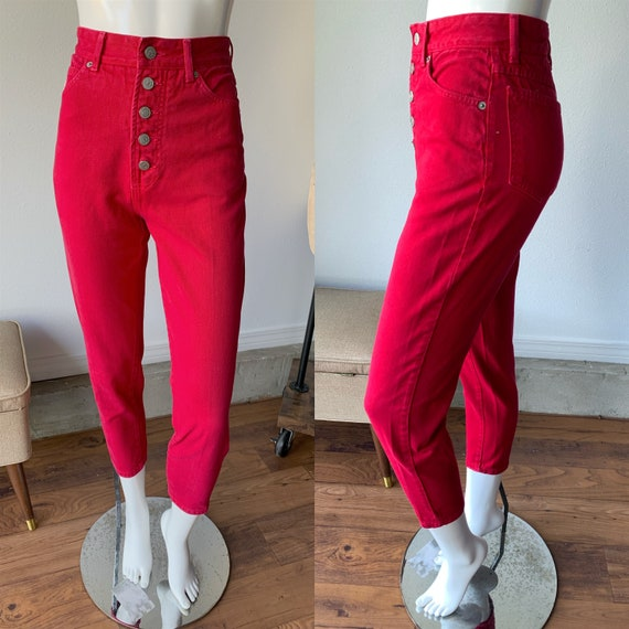 90s Jeans - Vintage 1990's Bongo Red Button Fly Hi