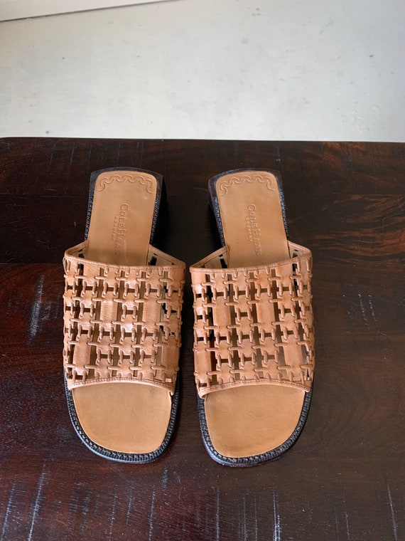 90s Sandals - Vintage Cole Haan Country Tan Woven