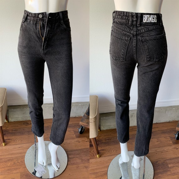 90s Jeans - Vintage 1990's Bongo Black Skinny High