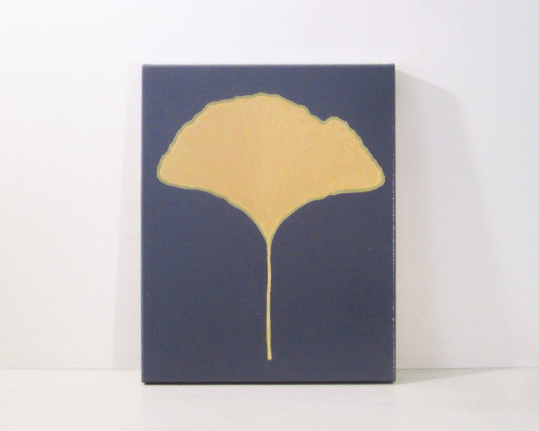 GINKGO LEAF Gold Ginkgo Leaf Painting Gold Ginkgo | Etsy