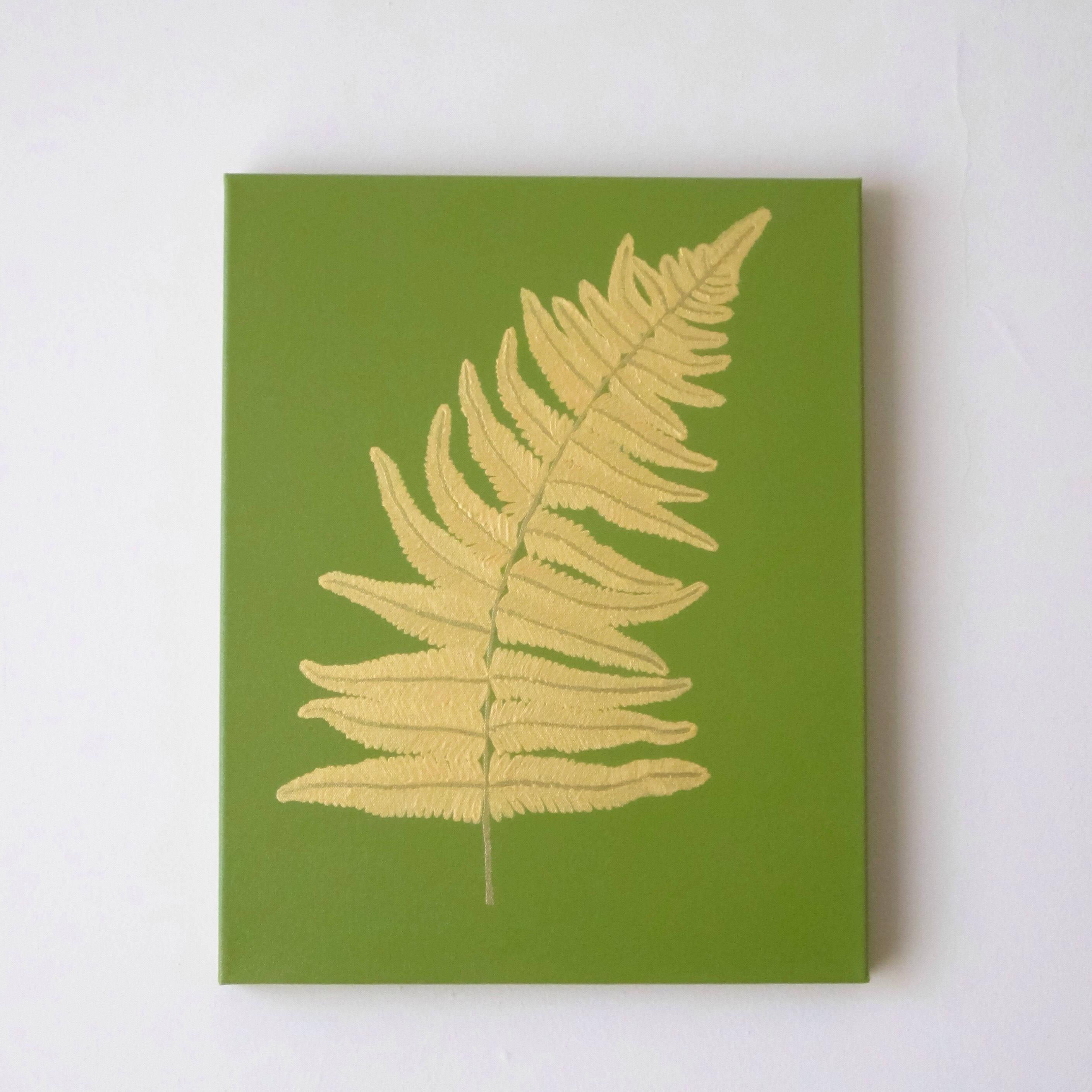 FERN LEAF Gold Fern Leaf Painting Gold Leaf Wall Art | Etsy