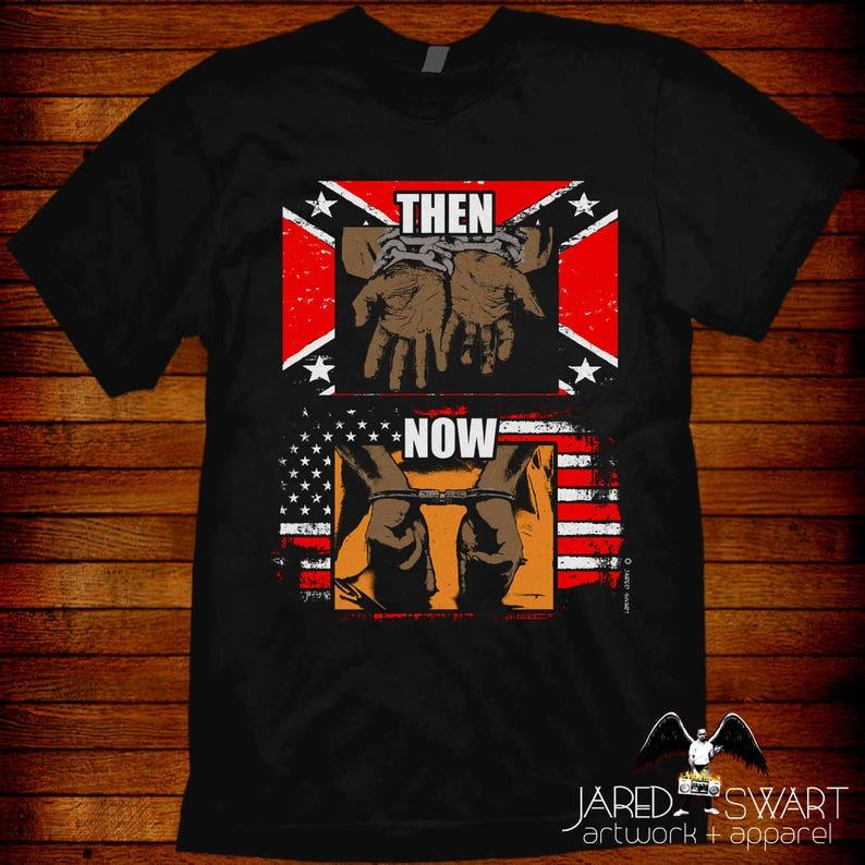Confederate Flag vs American Flag T-shirt