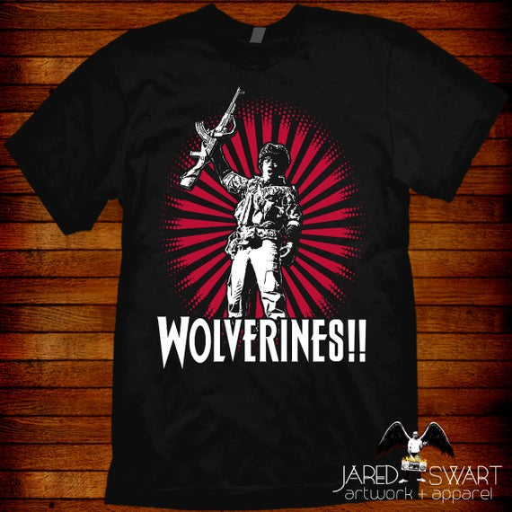 custom tee Any Size Any Color 80/'s Action Classic Red Dawn Wolverines