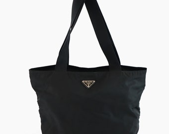 307c2d6669ba Prada Nylon Vintage Black Handbag Shoulder Tote bag