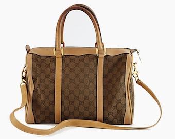 904dd315c Gucci Vintage Boston Bag 2way shoulder bag GG Monogram Canvas