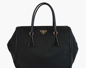 5960a76a25d0 Prada Nylon Vintage Handbag Black Bag