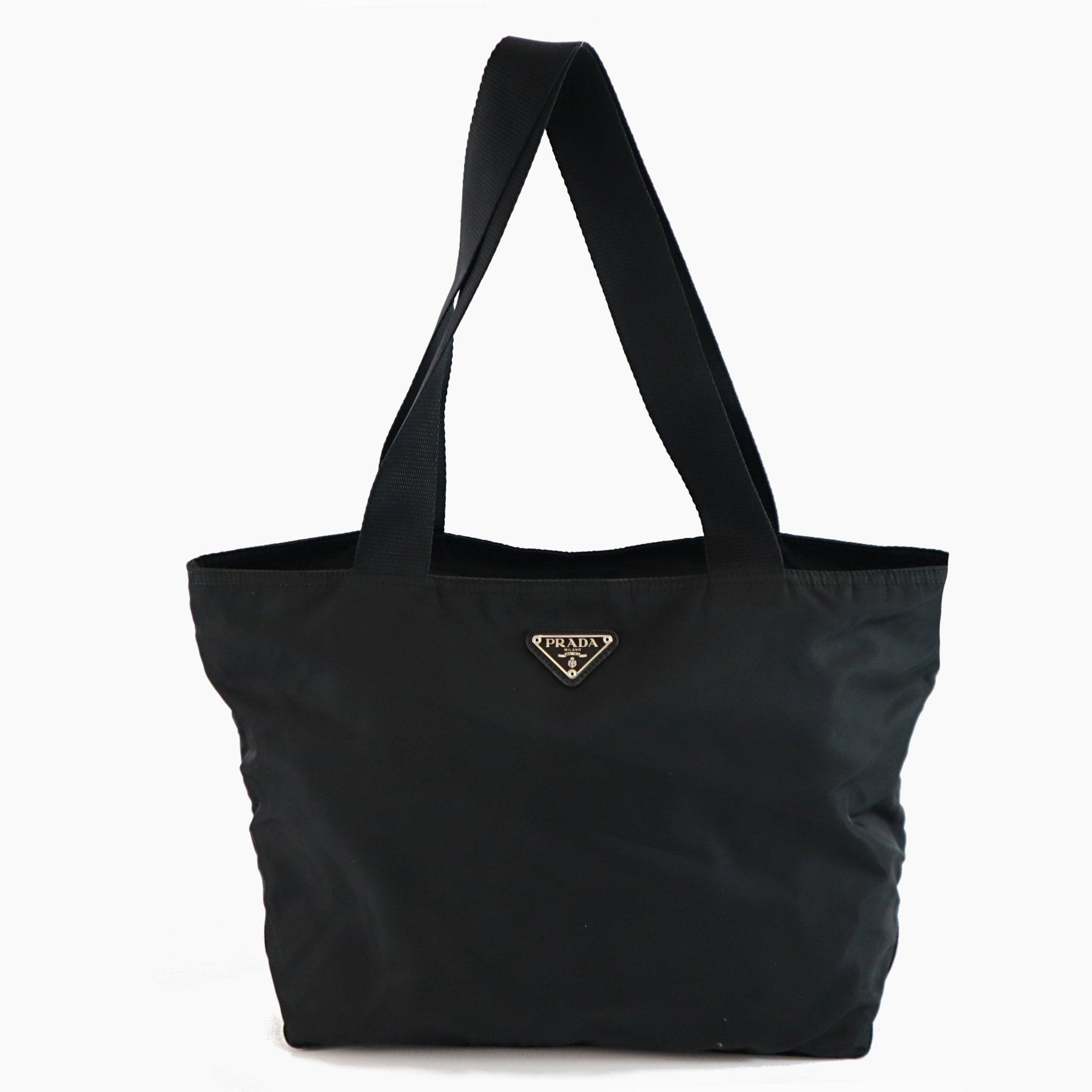 b9c7b423370e0 Prada Nylon Vintage Black Handbag Shoulder Tote bag