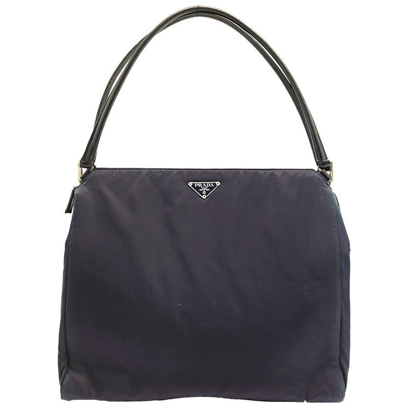 4ec75cf3d9 Authentic Prada purple nylon shoulder Bag