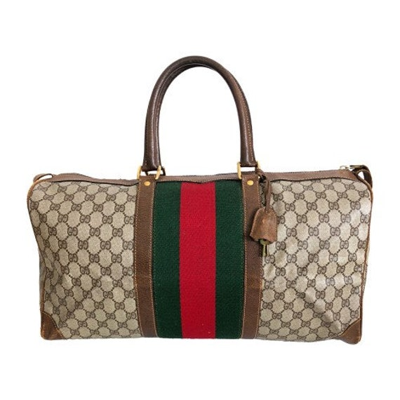 Authentic Gucci Vintage Weekend Duffle Travel Bag  c475a5d8f78fd