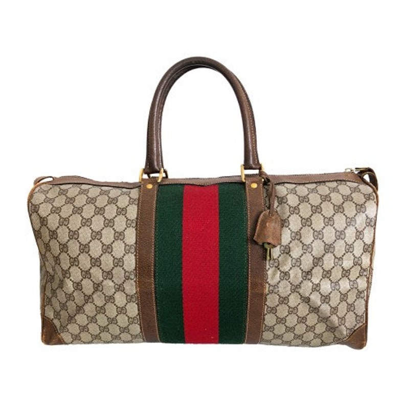 c24a073478 Authentic Gucci Vintage Weekend Duffle Travel Bag