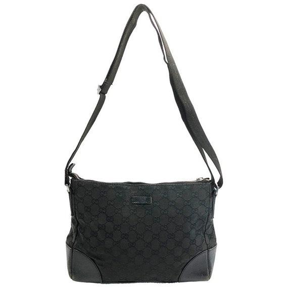 Authentique monogramme Vintage Gucci GG noir toile sac à   Etsy 31bce5286dd