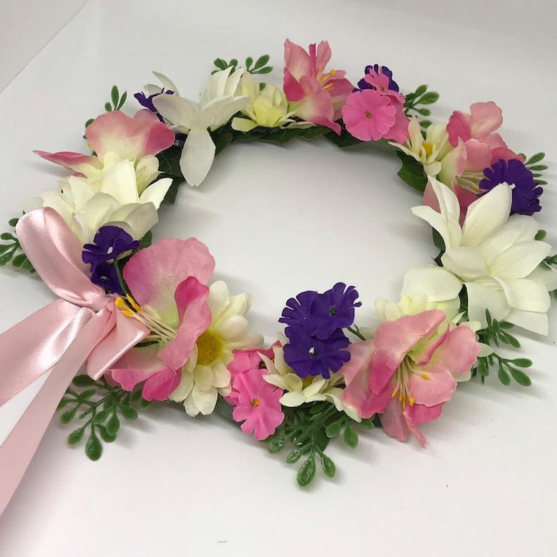 Pinks Flower Crown Wreath Purple Whites