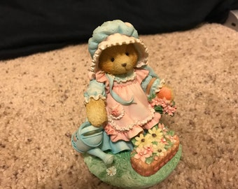 """1993 Cherished Teddies, Mary, Mary Quite Contrary,""""Friendship Blooms With Loving Care"""""""
