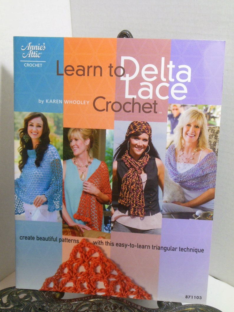 Learn How to Make Delta Lace with Crochet Hook Annie/'s Attic Lacemaking Technique Book 871103 Free Shipping
