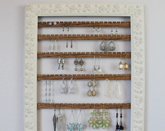 Wall Hanging Necklace Organizer Wood Necklace Holder Wall