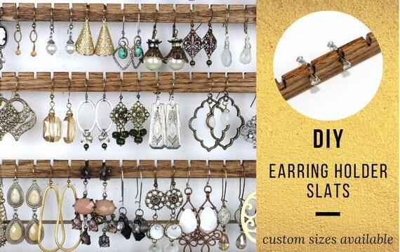 14 Wood Earring Holders Diy Earring Organizer Hand Cut Etsy